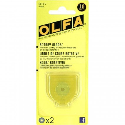 Olfa Rotary Blade 18mm 2 Pack
