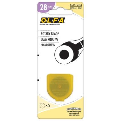 OLFA ROTARY BLADES 28MM - 5 PACK