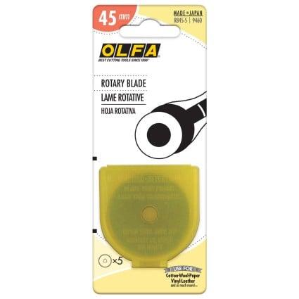 OLFA ROTARY BLADES 45MM - 5PK