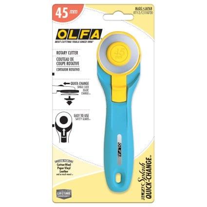45mm Splash Handle Rotary Cutter Aqua
