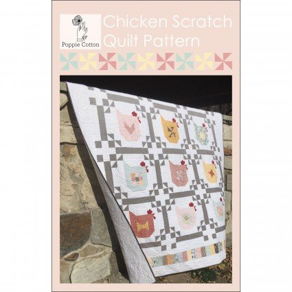 Chicken Scratch Quilt by Poppie Cotton