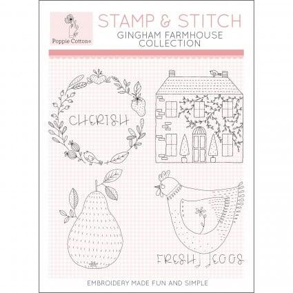 Gingham Farmhouse Stamp & Stitch