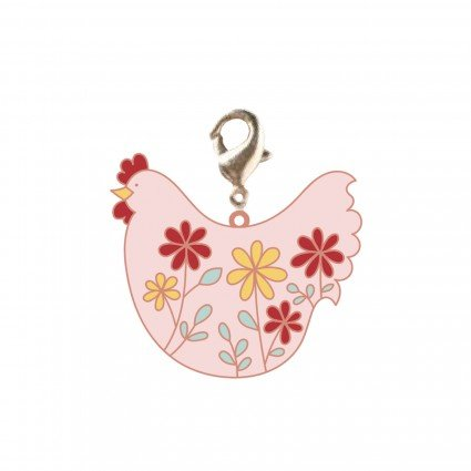 Zipper Pull Charm - Chicken Flower