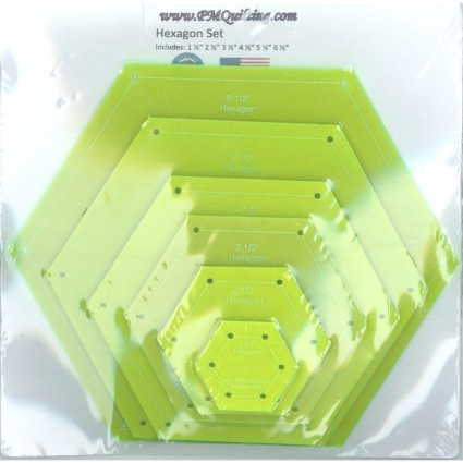 Hexagon Template Set - Glow Edge