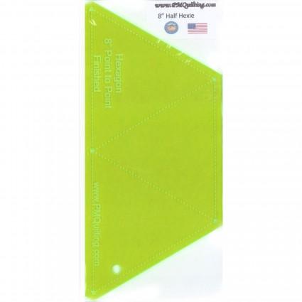 Half Hexie Hexagon Template - Glow