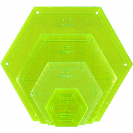 Hexagon Template Set - Glow Edge, Small