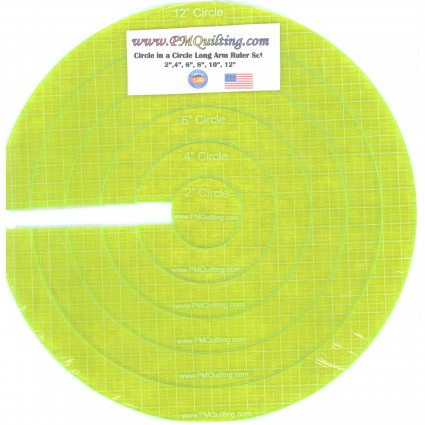 Circle Ruler Set - Longarm Glow Edge