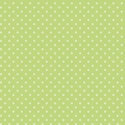 Basically Hugs green polka dot
