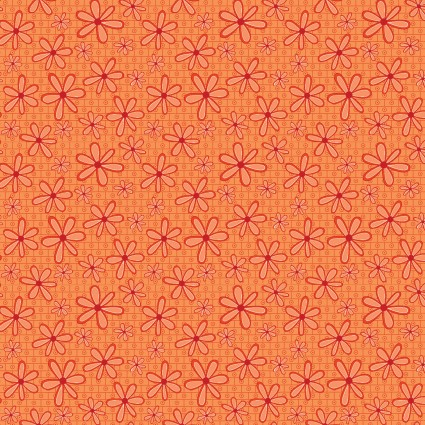 BASICALLY HUGS DAISY ORANGE TONAL DAISIES 25043-ORA1