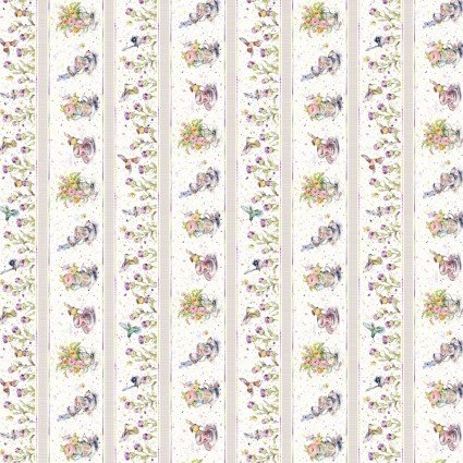 Flowers & Feathers - Border - Multi