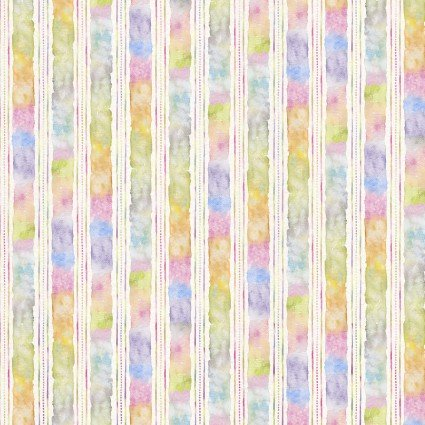 Flowers & Feathers - Stripe - Multi