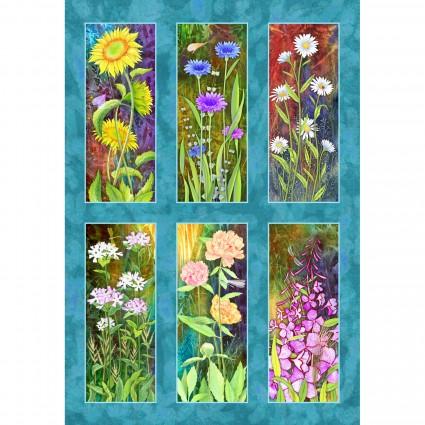 FLOJ-4257MU  30 Flower Jewels Panel