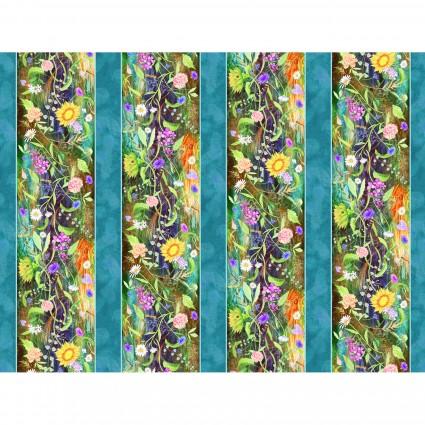 Flower Jewels Stripe