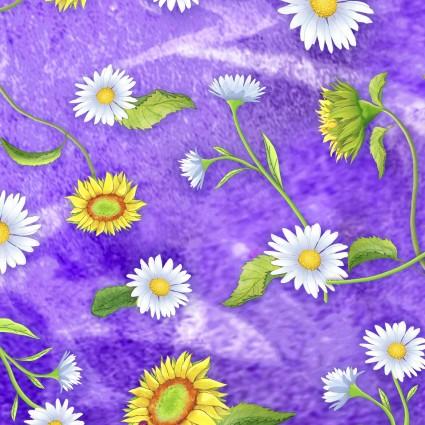 Flower Jewels Daisies Purple