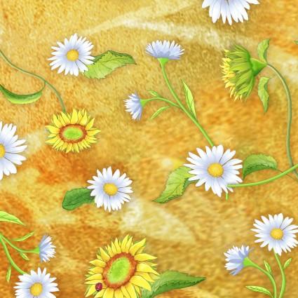 Flower Jewels Daisies Yellow
