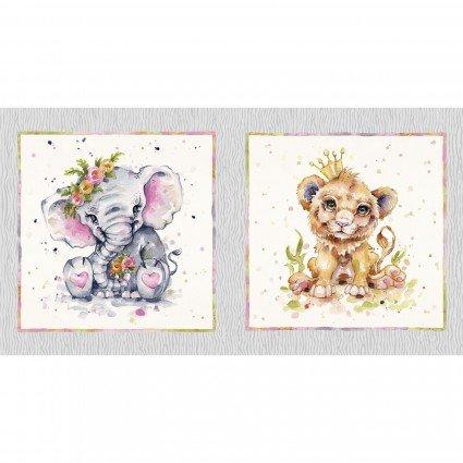 Little Darlings Safari - Pillow Panel 2 - 19x19