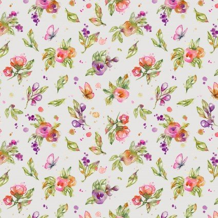 Little Darlings Tossed Floral White