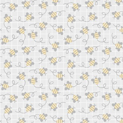 Little Critters - 4295-S - Lt. Gray Bees