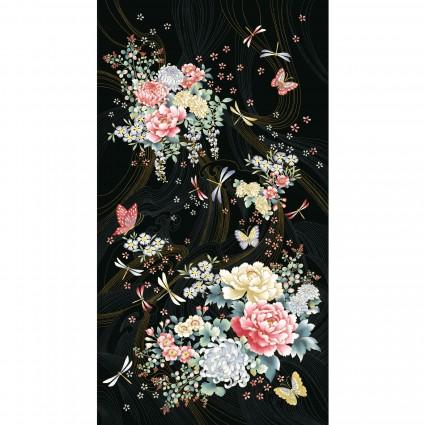 Niwa Metallic Panel Dragonflies and Flowers