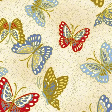 Niwa Metallic Butterflies Cream