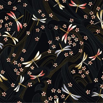 Niwa Metallic Dragonflies Black