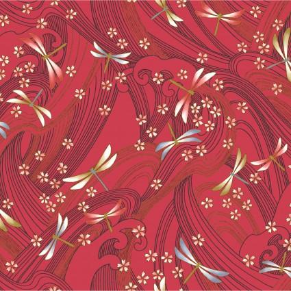 Niwa Metallic Dragonflies Red