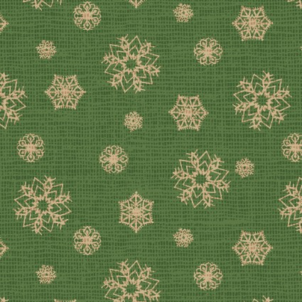 Postcard Holiday Snowflake Green 4442 G