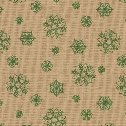 Postcard Holiday Snowflakes Tan 4442 NE