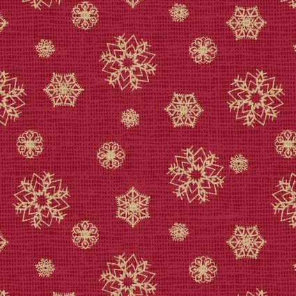 Postcard Holiday Snowflakes Red 4442-R