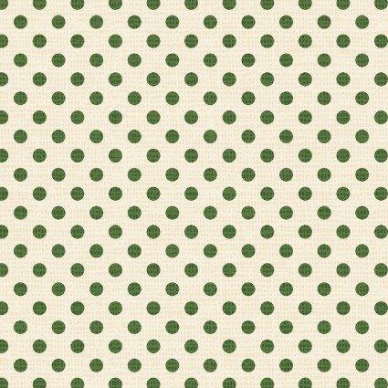 Postcard Holiday Dots Cream/Green 4444 LG