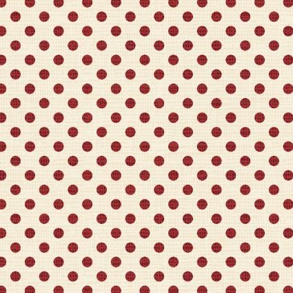 Postcard Holiday Dots Cream/Red 4444 LR