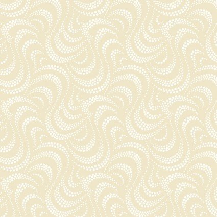 RAMBLINGS 11 WHITE ON NEUTRAL DOTTED WAVES RA110077001 P&B Textiles