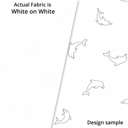 Ramblings Fun 0475-W (Dolphins on white)
