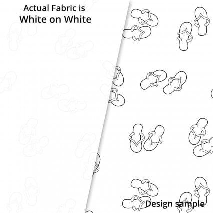 Fun Flip Flops - White on White