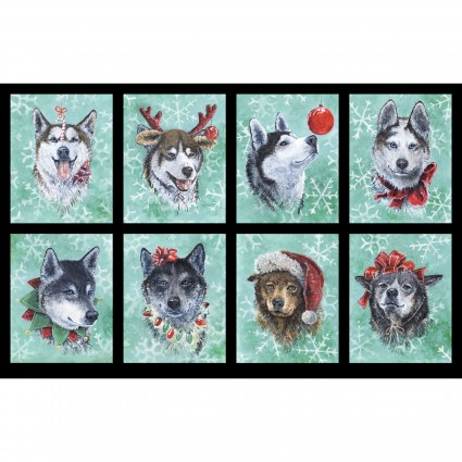Santa's Siberians-Panel- 24 x 42