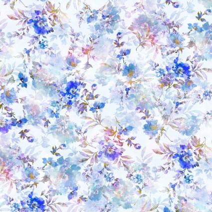 108 Sophia Blue Floral Wide Backing