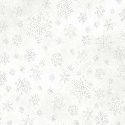 Sparkle Suede White Snowflakes