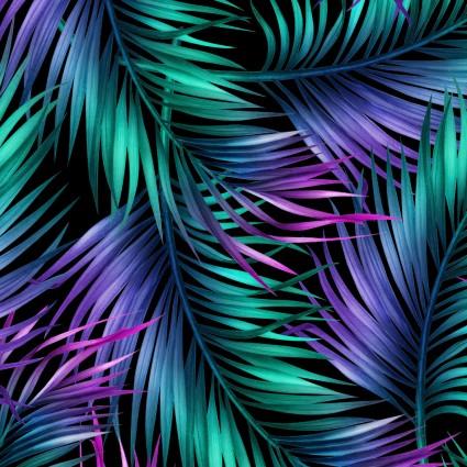 04301MU Tropic Gardens Tropical Leaves Multi