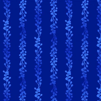 04304B Tropic Gardens Stems/Buds Blue