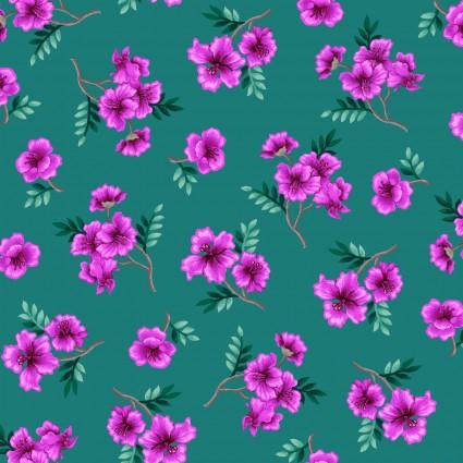 04305GG Tropic Gardens Small Floral Green