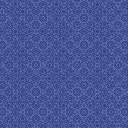 Whimsy medallion flowers Blue