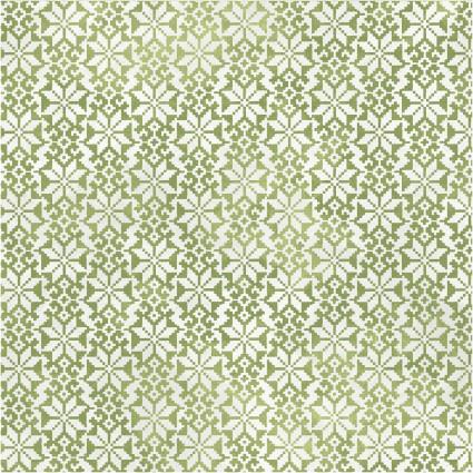 Winter Wonderland Small Green Snowflakes