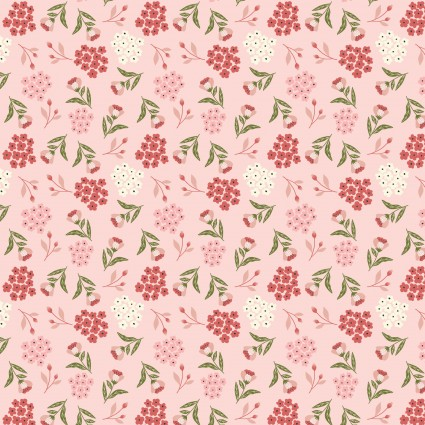 Cherished Moments/Blooming Buds Pink/Poppie Cotton
