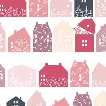 Gingham Farmhouse Farmhouse Row-Pink