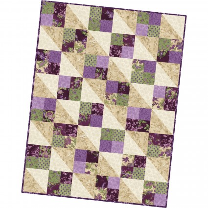 Aubergine Four Square Quilt