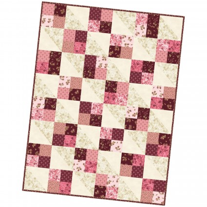 Burgundy & Blush Four Square Quilt Pod