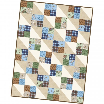 Cozy Cabin 4 square quilt kit
