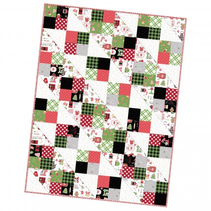 We Whisk You a Merry Christmas!  Four Square Quilt Pre-cut Quilt Kit designed by Kim Christopherson