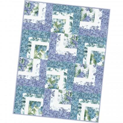 Watercolor Hydrangeas Corner Cabin Quilt Pod