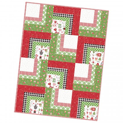 We Whisk you a Merry Christmas!  Corner Cabin Pre-cut Quilt Kit designed by Kim Christopherson